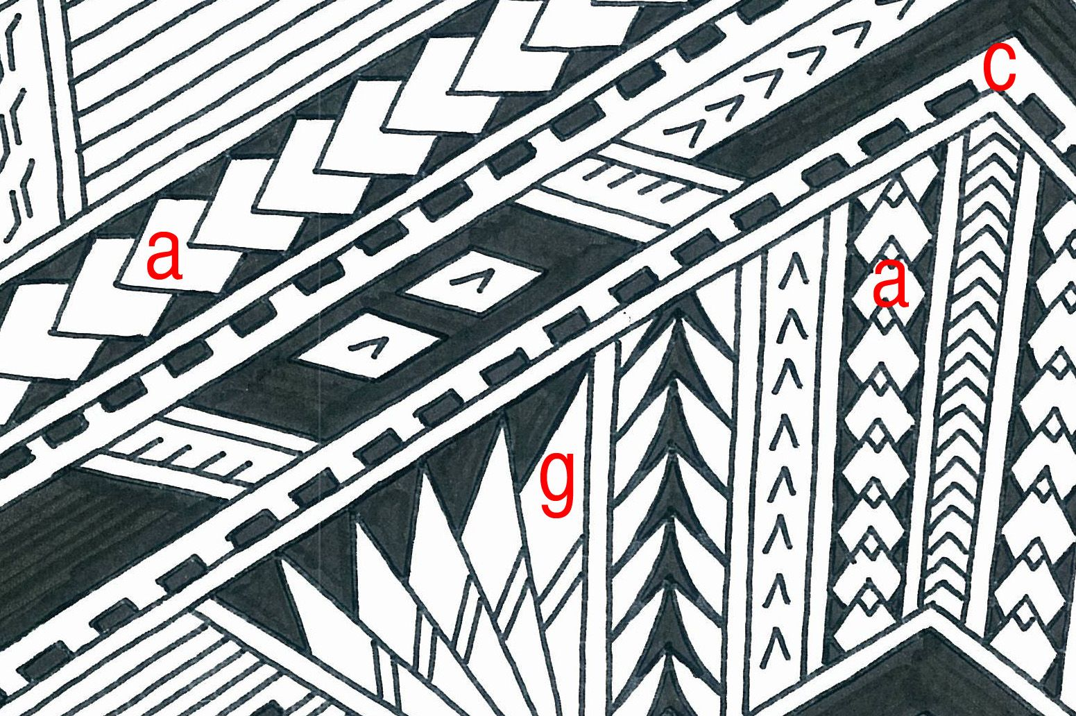 Samoan tattoo line meanings of polynesian tattoo for Scale meaning in art