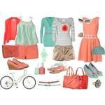 Pretty and Fresh Coral Outfits for Summer