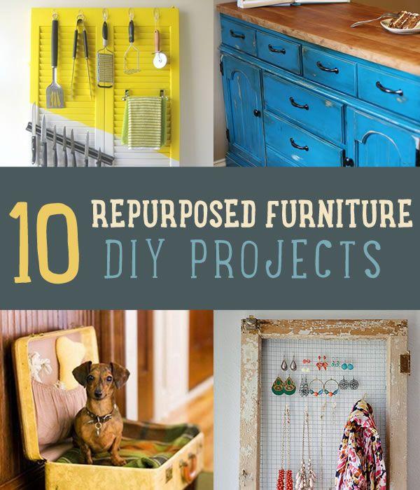 10 Ways To Repurpose Old Furniture | Repurposed Furniture DIY Ideas  Http://diyready