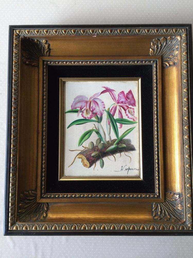 W Shauss Original Oil Painting Framed Signed 8 X 10 Image 17 X 19 F Stilllife Painting Frames Painting Frame