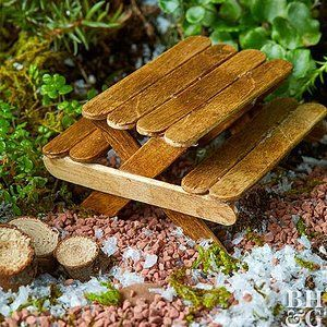 How to Make a Tiny Picnic Table for a Fairy Garden