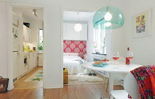 Aranżacja wnętrz : małe mieszkanie « Wnętrza