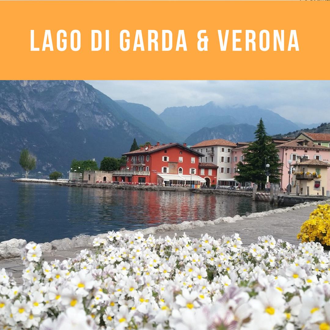 Benvenuti alla bella Italia! Onderweg van de Dolomieten naar Zwitserland passeerden we langs het Gardameer. De Passo dello Stelvio (toegangsweg naar Zwitersland) was nog gesloten, vandaar dat we via een omweg langs het Gardameer kwamen. We besloten om enkele dagen door te brengen aan Lago di Garda en gingen nog een dagje naar Verona.