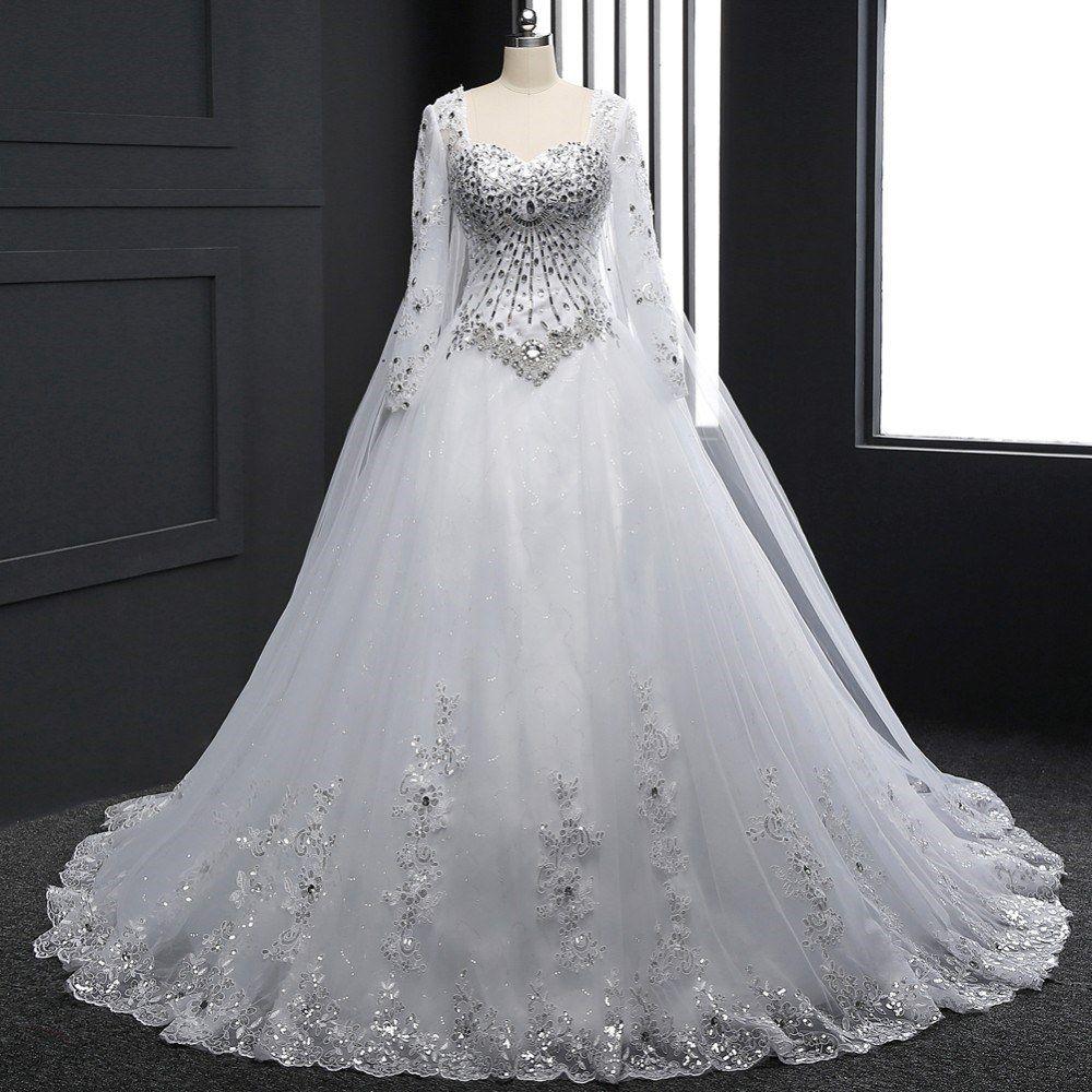 تفسير الفستان الأبيض في الحلم فستان العرس Long Sleeve Bridal Gown Sweetheart Wedding Dress A Line Bridal Gowns