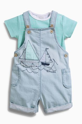 Buy Blue Light Wash Boat Dungarees 0mths 2yrs Online Today At Next