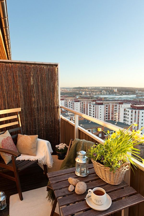 Kleinen Balkon gestalten - Laden Sie den Sommer zu sich ein Do - balkonmobel fur kleinen balkon ideen