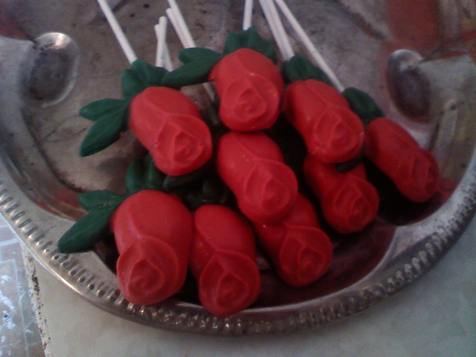 Red confection roses (lollipops) Bouquet of 6 or 3 or single roses ...