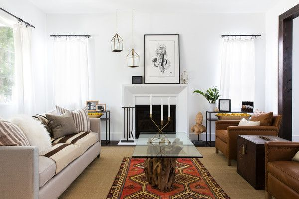 Neutral Ground Home Indian Living Rooms Brown Leather Living