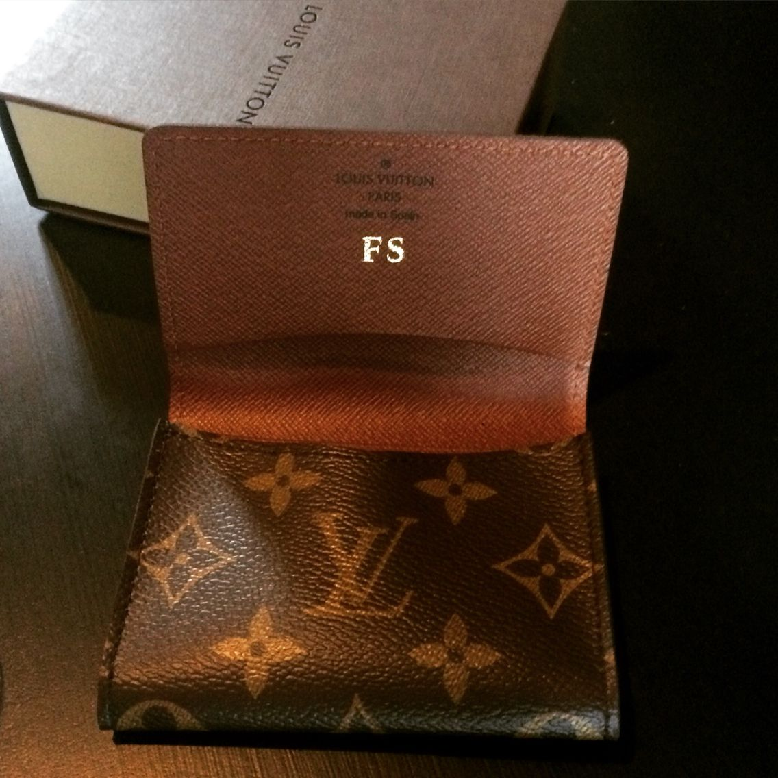 Louis Vuitton Business Card Holder personalised with my initials ...