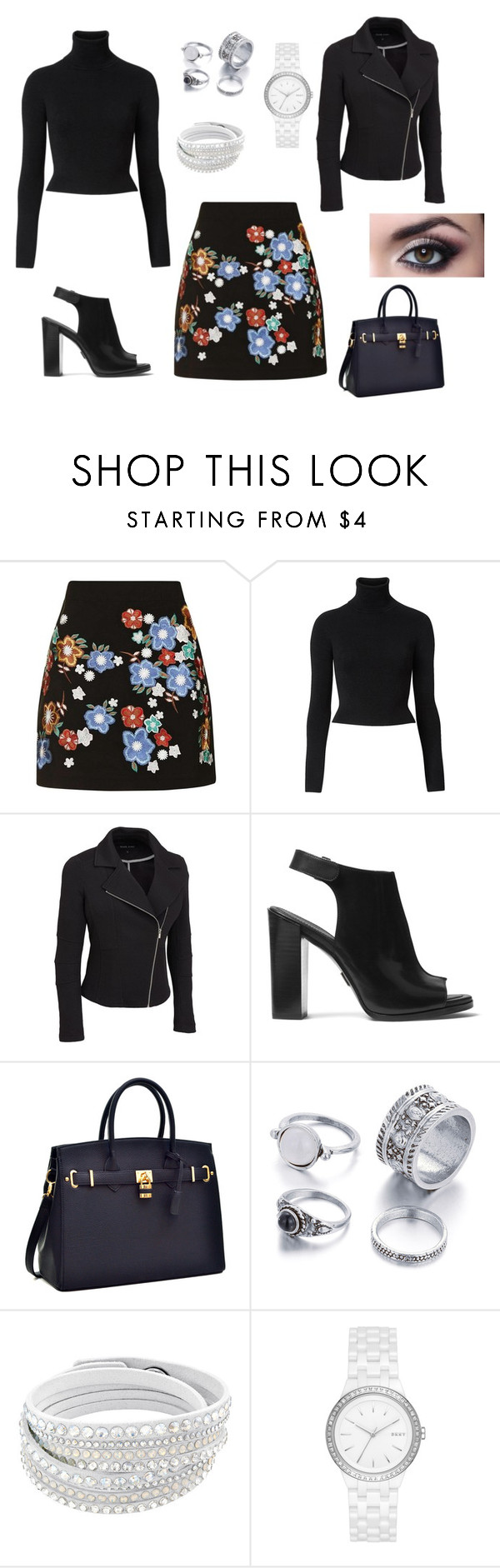 """Blackened flowers"" by margaret-ann-robinson on Polyvore featuring Topshop, Witchery, Michael Kors, DKNY and plus size clothing"