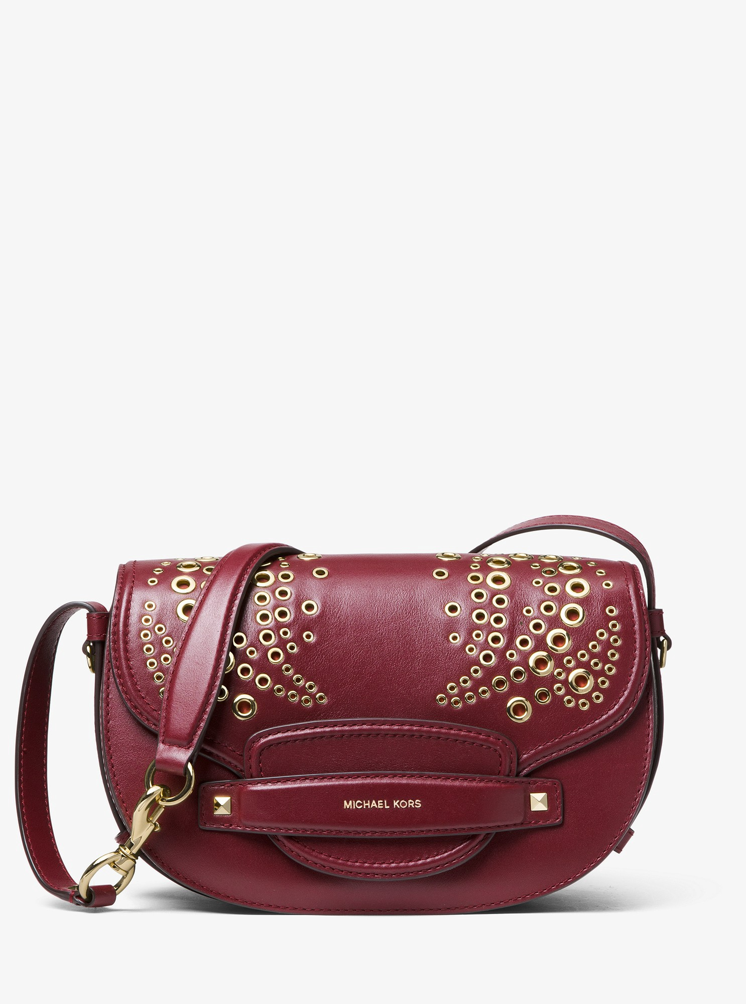7861cb202f55 Cary Medium Grommeted Leather Saddle Bag by Michael Kors | Products ...