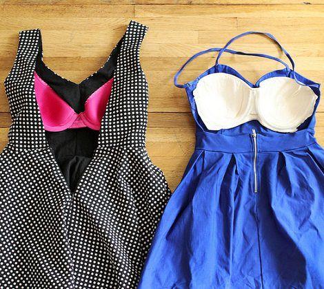 Ideas DIY para llevar sujetadores con un vestido sin espalda