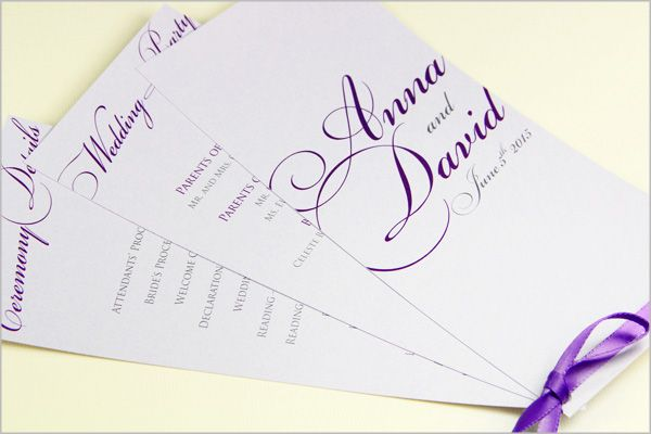 Ceremony Programs And Stationery For Weddings Other Special Events Add The Finishing Touch To Your Event When You Make Own Wedding