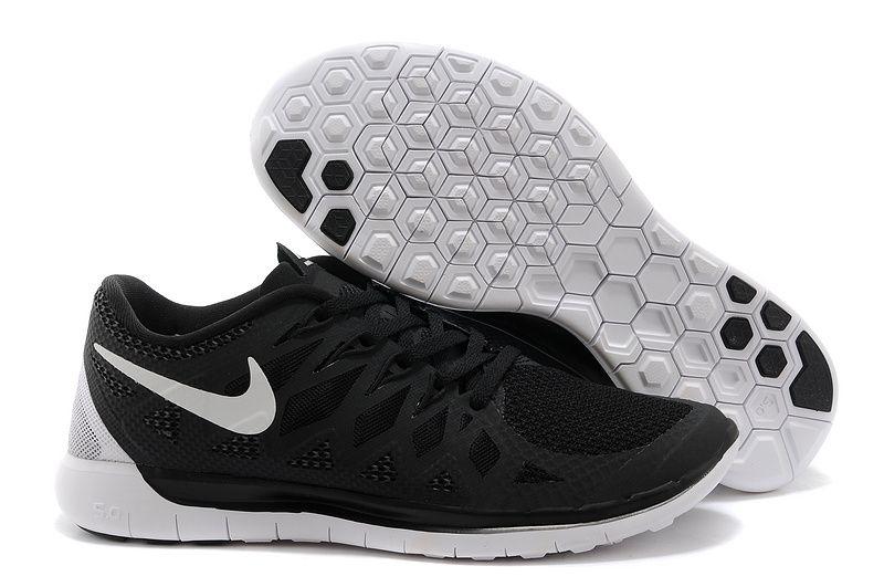 Nike Free 5.0+ 2014 Mens Black White Training Shoes