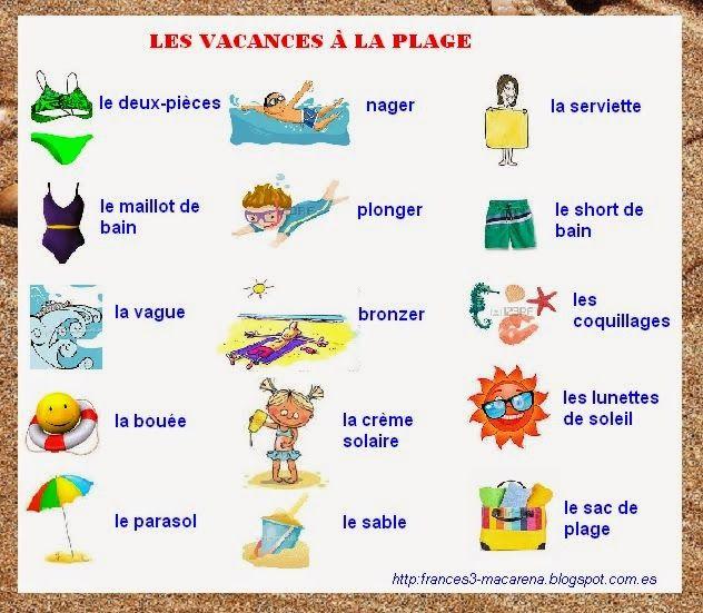 mes vacances 224 la plage loisirs pinterest language