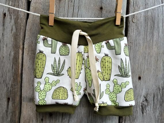 Baby boy shorts, cactus baby clothes, organic baby clothes, boy summer clothes,toddler shorts, baby shorties,baby boy shorts, hipster baby #toddlershorts