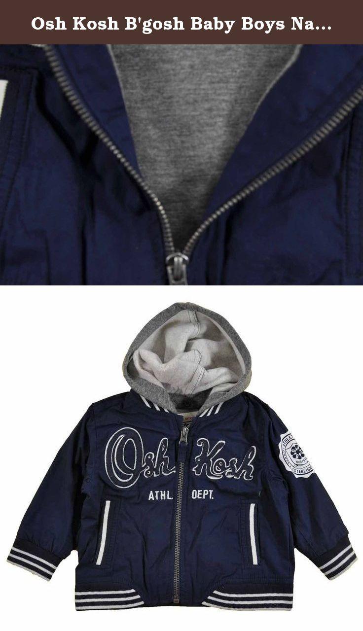 50cc55733 Osh Kosh B gosh Baby Boys Navy Blue Hooded Spring Jacket (12M). Osh ...