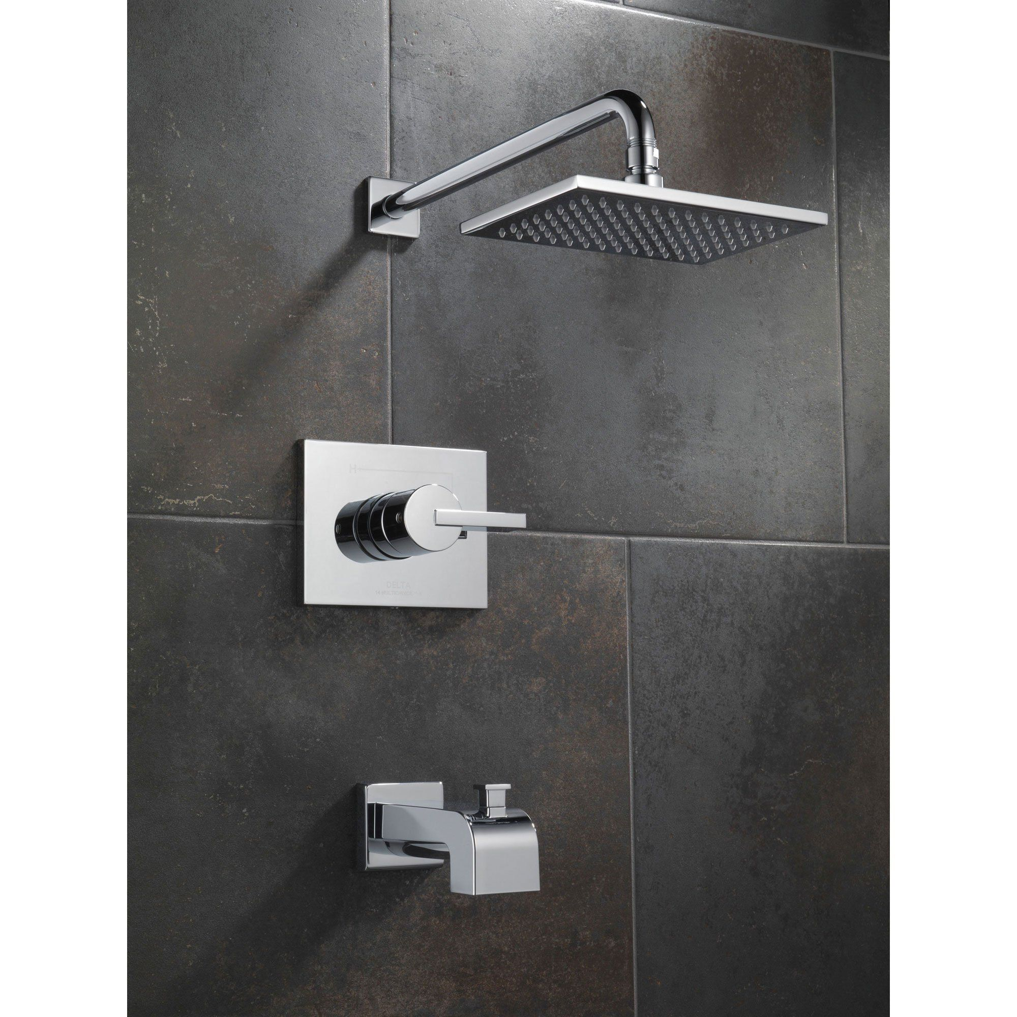 Delta Vero Modern Tub And Shower Combination Faucet With Valve In