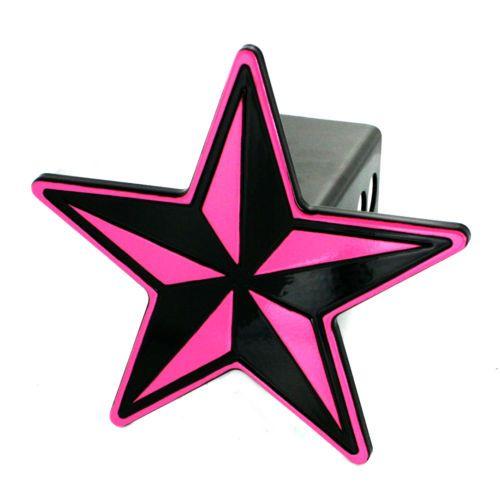 Ami Billet Aluminum Hitch Plug Cover 2 Receiver Nautical Star Pink Billet Aluminum Nautical Star Ebay