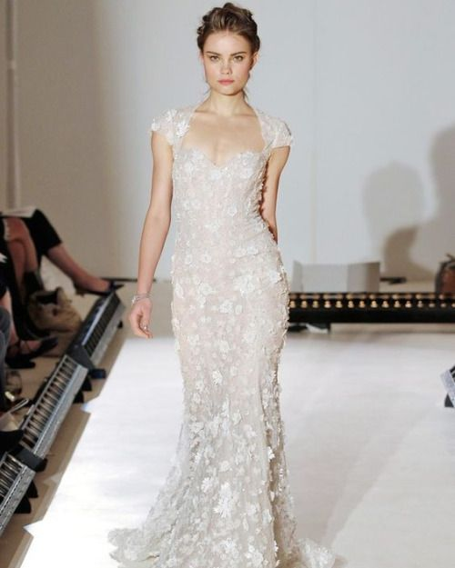 Bride2be Ivory Petal Embroidered Net Over Cashmere Chantilly Lace With Nude Sparkle Accent