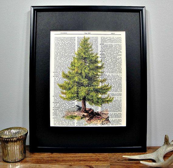 framed-vintage-dictionary-print-woodland