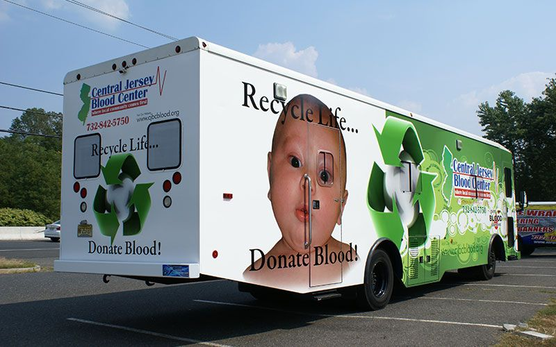 #vehiclewrap for Central Jersey Blood Center's (@CJBCBlood) #Bloodmobile #airgraphix