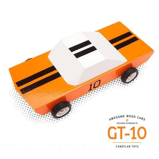 Modern solid wood toys cars heirloom vintage bright colors minimalist play playtime vehicles automotive custom