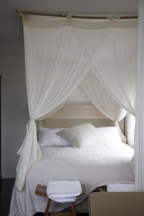 Camas con cortinas y dosel ideas para el hogar for Camas con cortinas