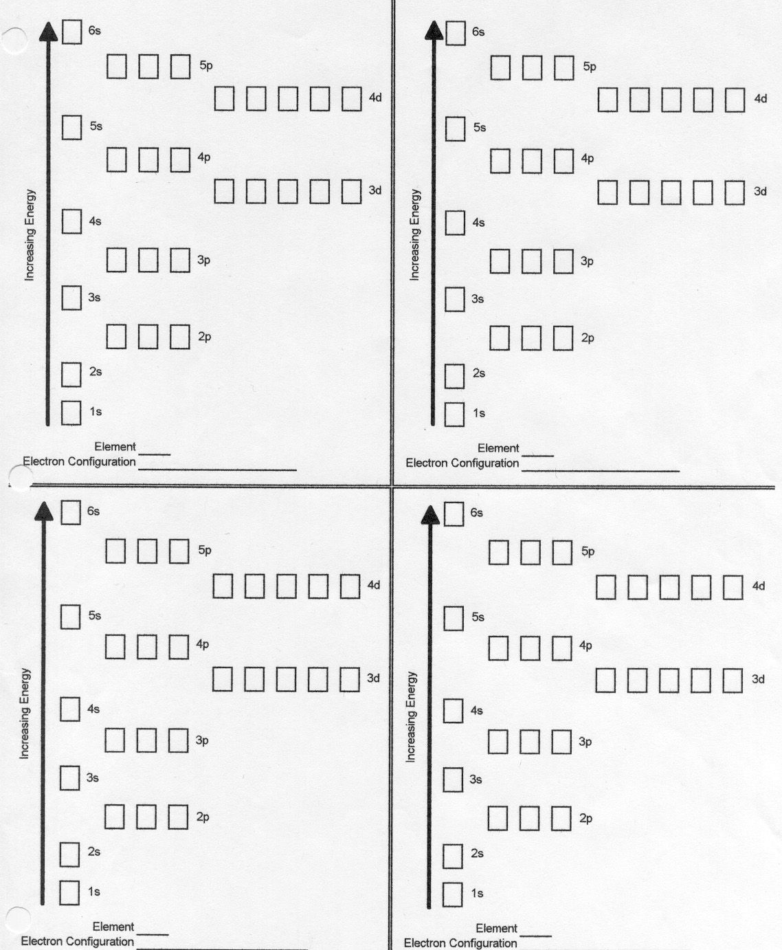 Orbital Notation Worksheet  Chemistry Unit