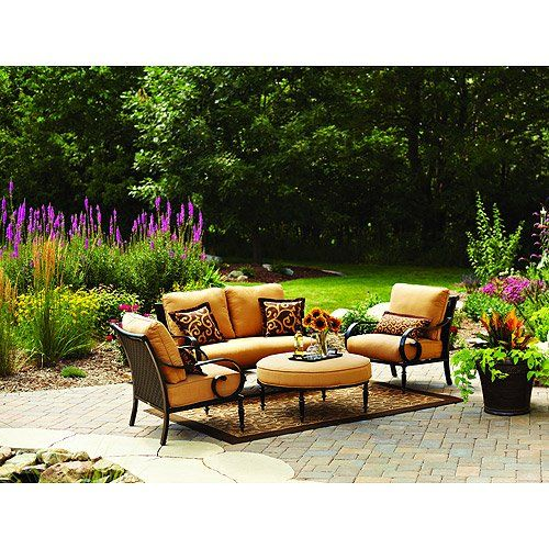 Better Homes And Gardens Englewood Heights 4 Piece Outdoor Conversation Set  Outdoor Furniture Http: