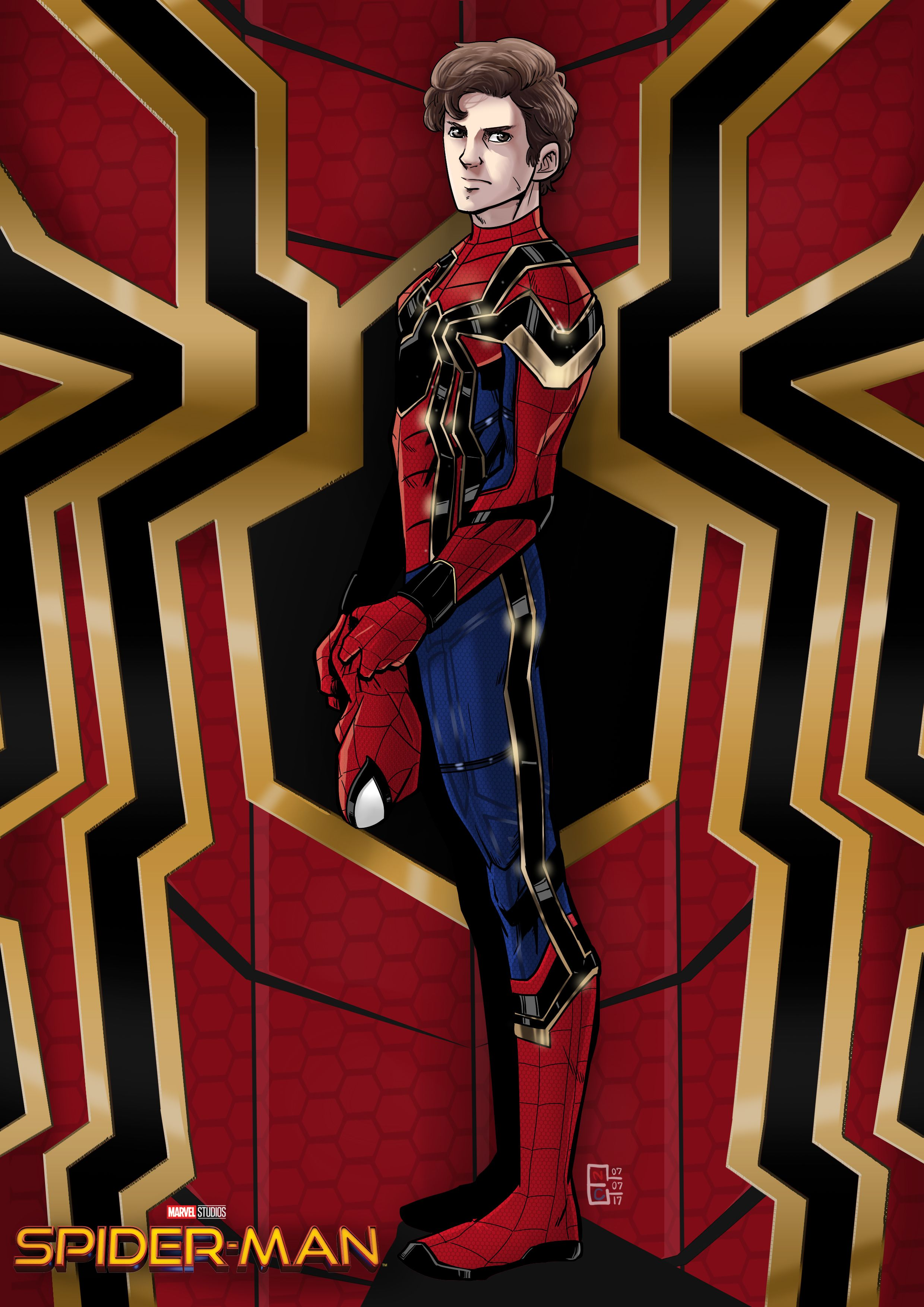Iron Spider Suit - Spiderman : Homecoming Ver.(In my imagination Ha ...