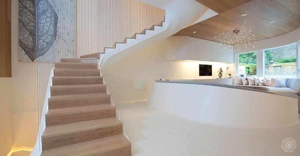 Floating Stair Case Bevloering Modern Interieurontwerp Droomhuis