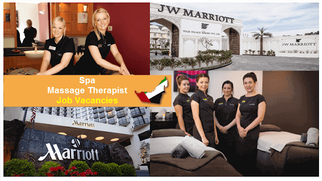 Spa Massage Therapist Job hiring in Marriott Hotels Dubai