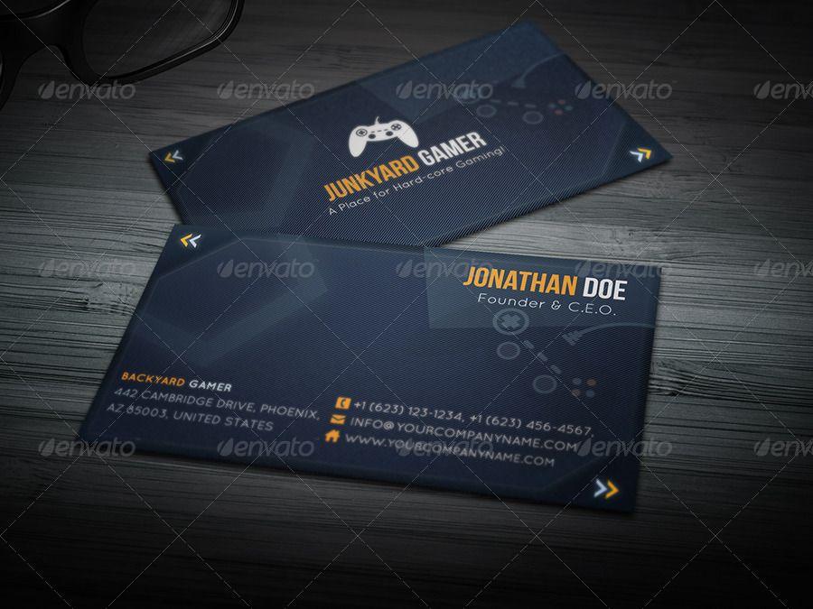 Gaming Themed Business Card Minimal Business Card Business Card Design Business Cards