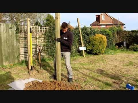 How To Install A Fence Post Without Concrete Or Spikes Youtube