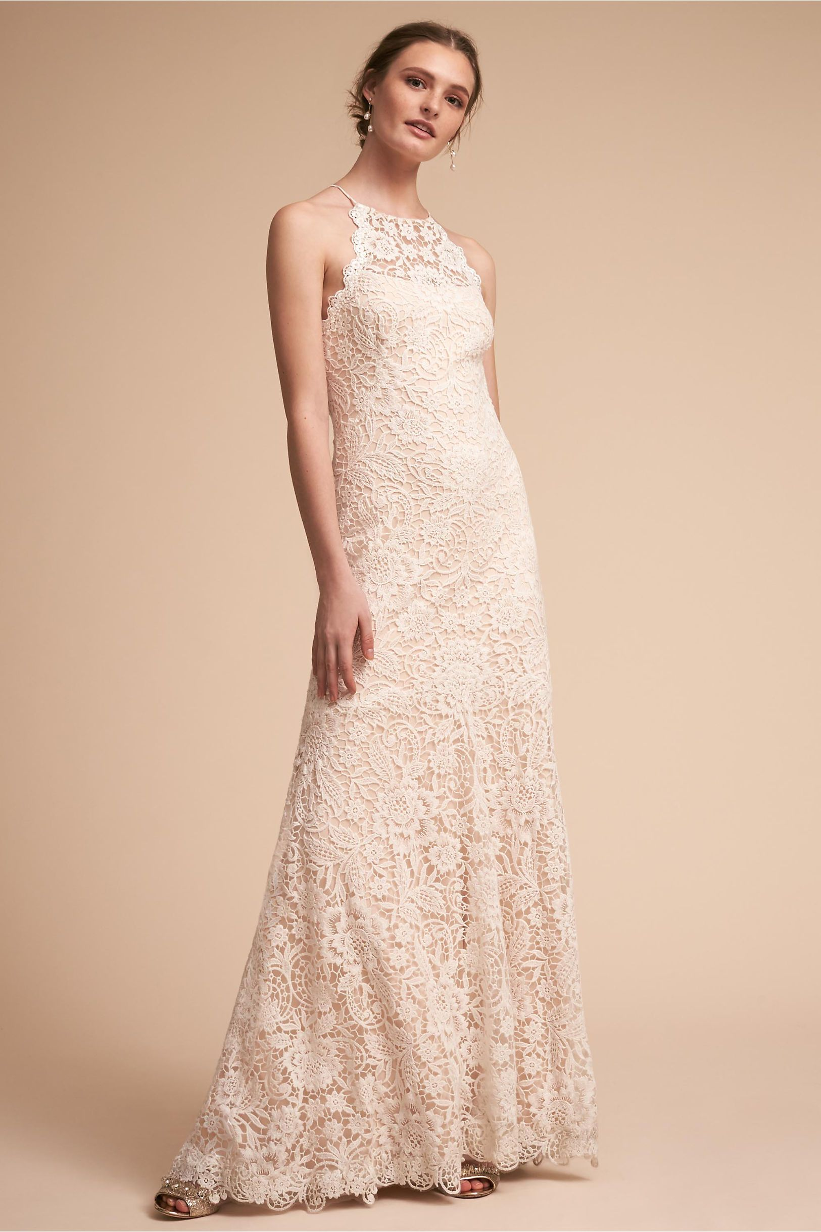 BHLDN\'s Tadashi Shoji Blythe Gown in Ivory | Ivory, Gowns and ...