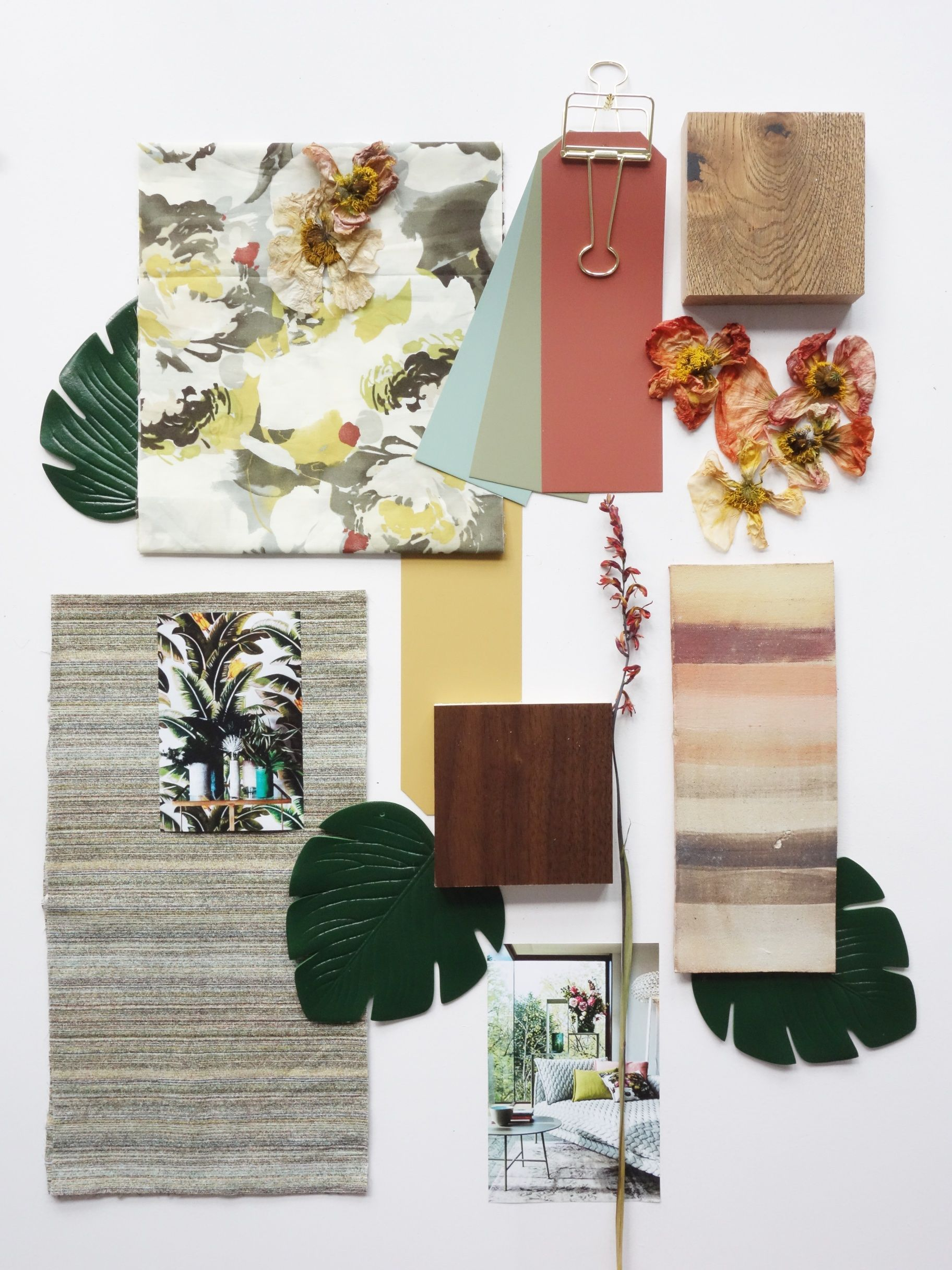 Jungle Inspiration Mood Board For Our Ecourse On How To Create A Well Structured