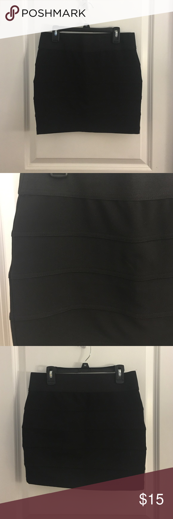 Black Bandage Skirt Black bandage skirt from charlotte russe. Size medium. Never worn. Charlotte Russe Skirts Mini
