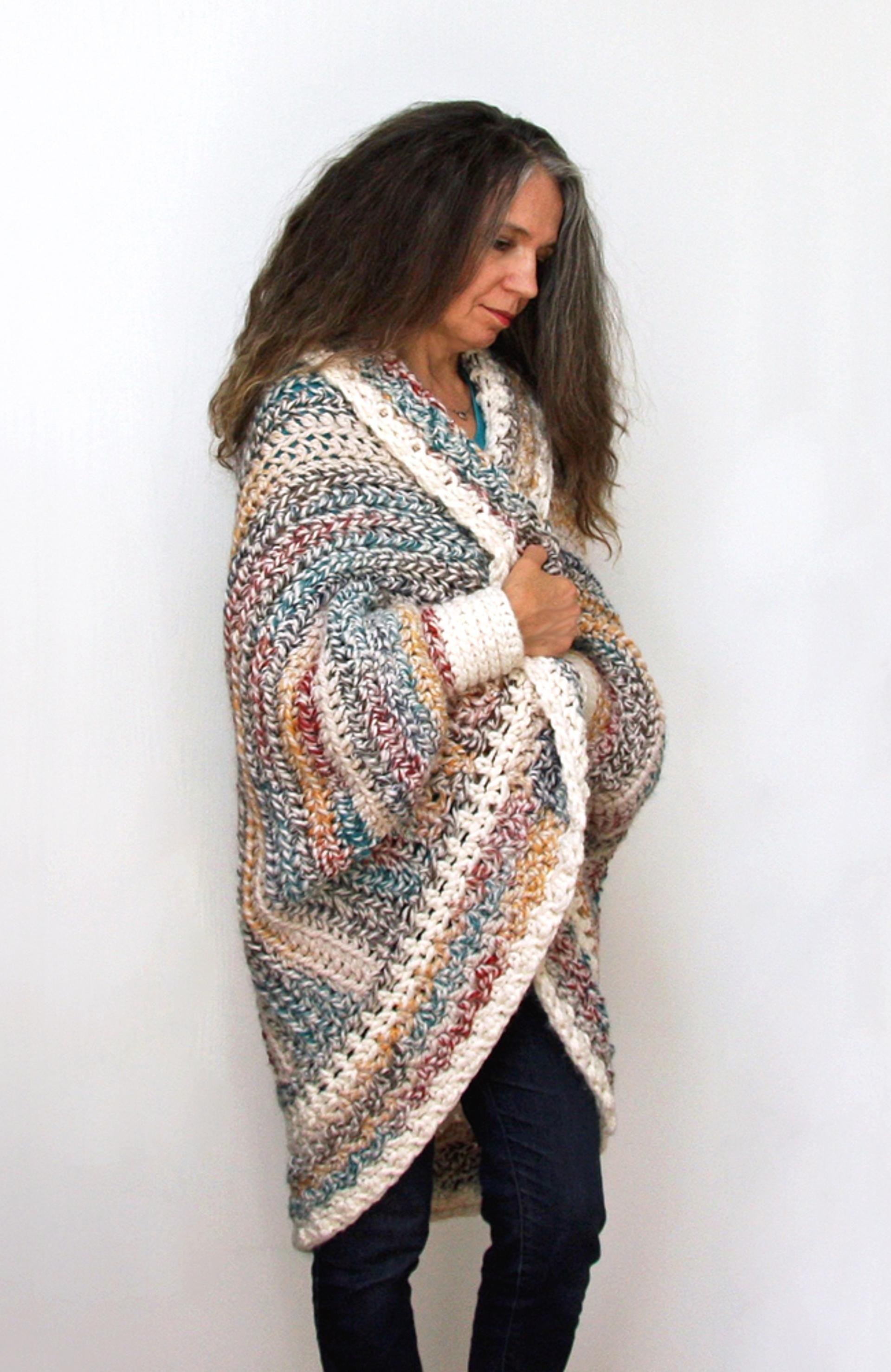 Luxe Oversized Chunky Shrug | Crochet, Shawl and Yarns