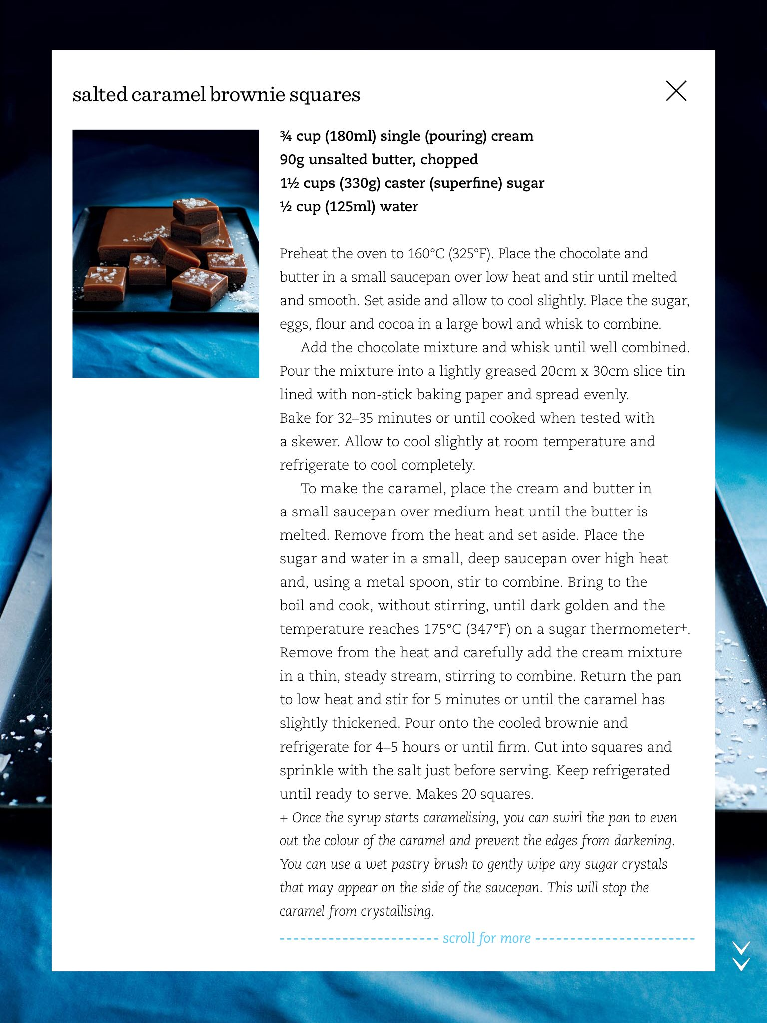 Salted caramel brownie squares – 2 \Donna Hay Magazine