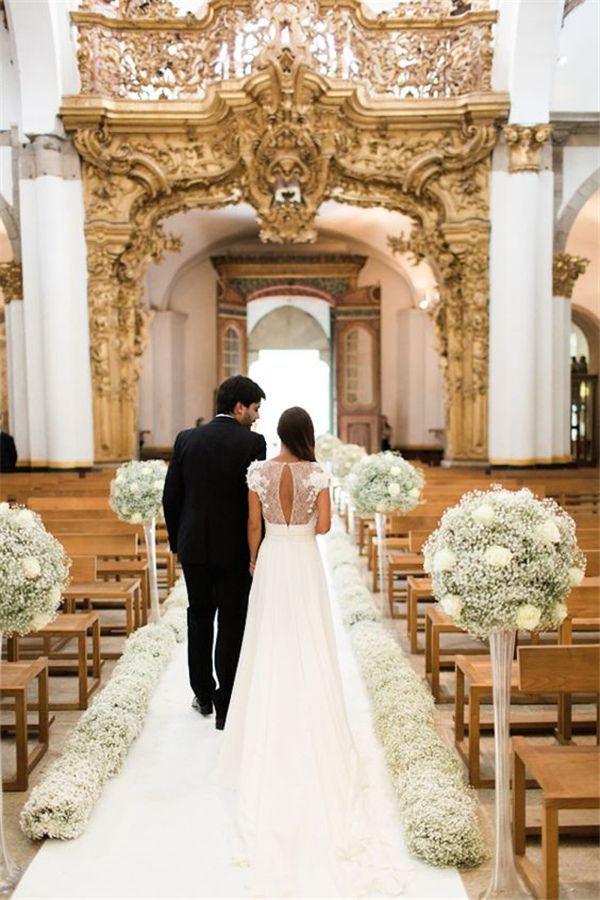 21 Stunning Church Wedding Aisle Decoration Ideas to Steal – WeddingInclude – Boda fotos