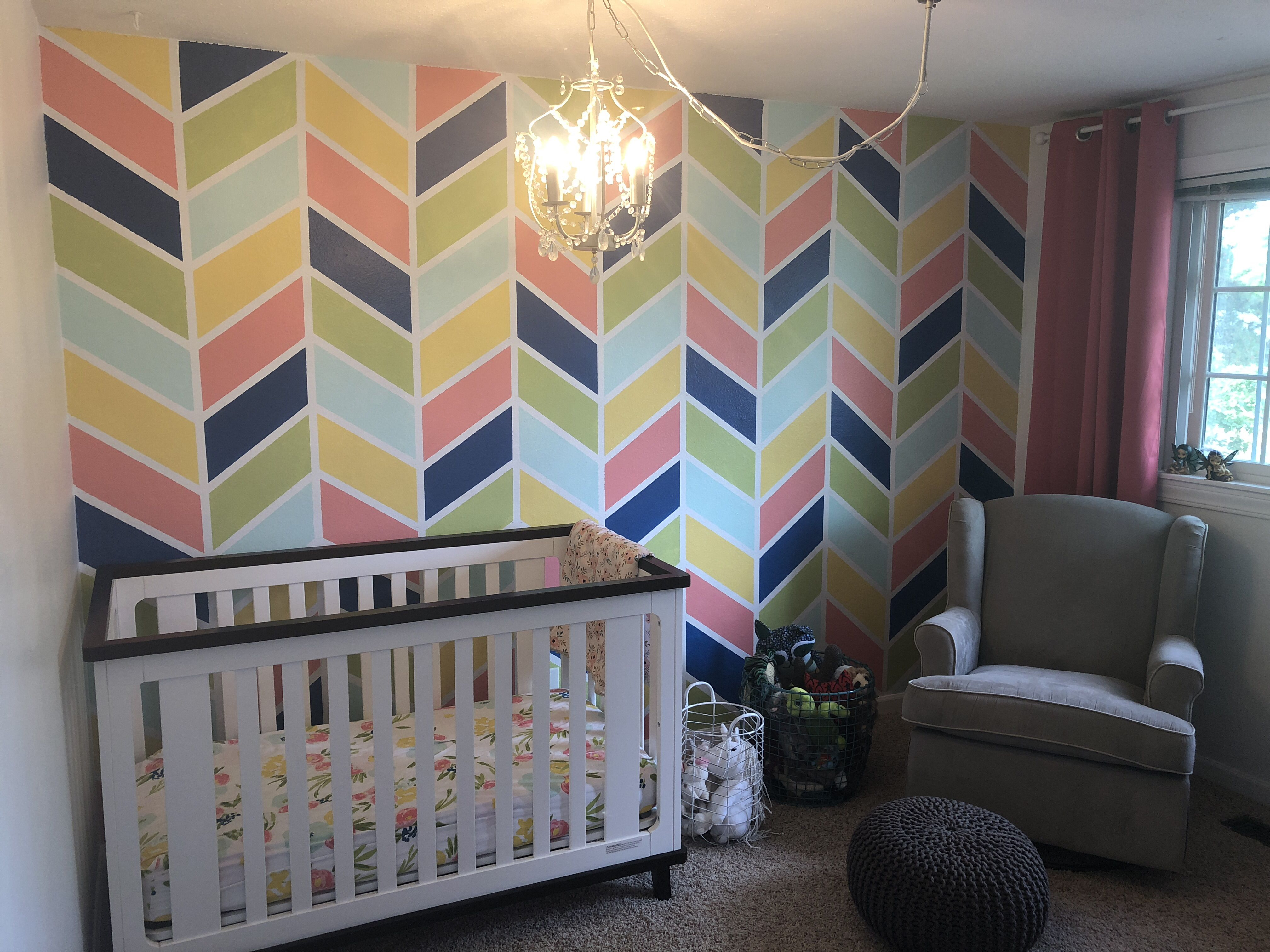 Multicolor Accent Wall Wall Paint Color Schemes Herringbone Wall Herringbone Wall Paint