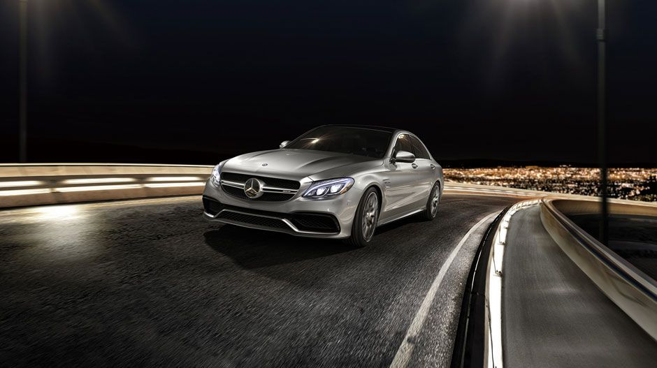 AMG C63 S in Iridium Silver with Lighting Package