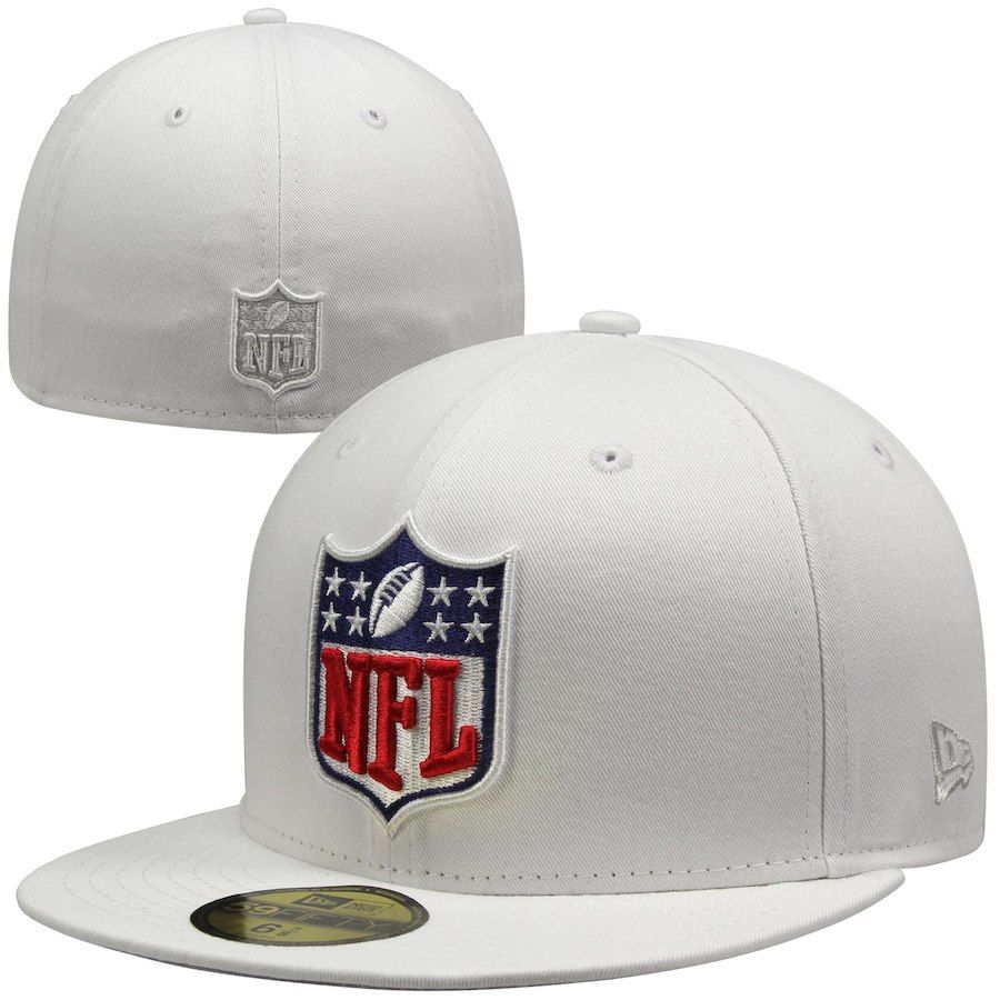 New Era NFL Shield 59FIFTY Fitted Hat - White 88b909e41a84