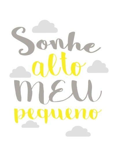 Sonhe Alto Meu Pequeno Nuvens 2 Baby Shower Imprimir