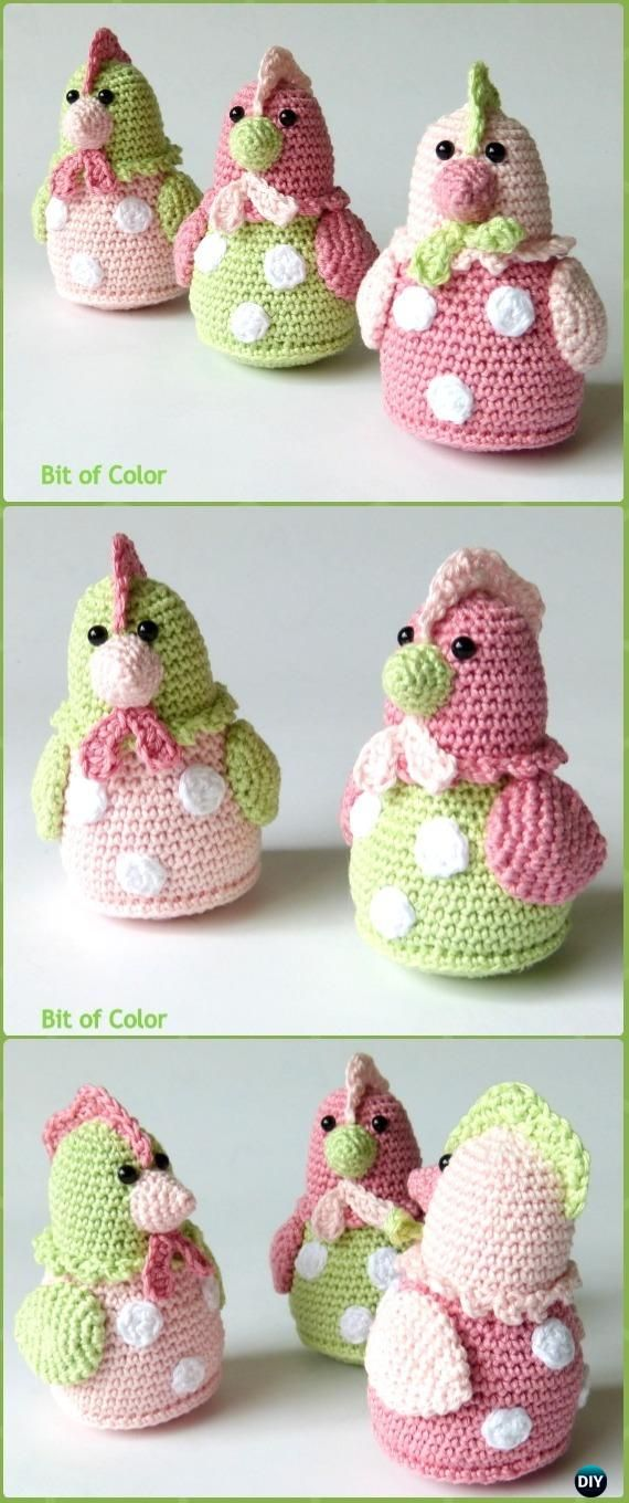 Crochet Kipje Chicken Kitty Amigurumi Free Pattern Crochet Easter