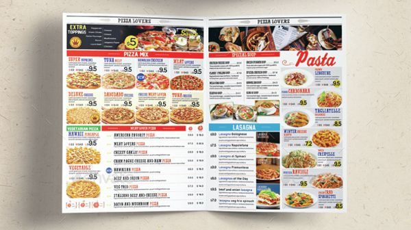 sample pizza menu template download documents psd pdf free eps - dinner menu templates free