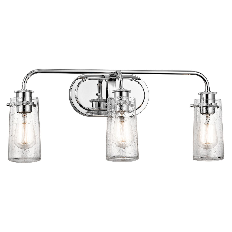 type of lighting fixtures. Kichler Braelyn 3 Light Wide Vanity Bathroom Fixture With Seedy Glass Shades Primary Image Type Of Lighting Fixtures S