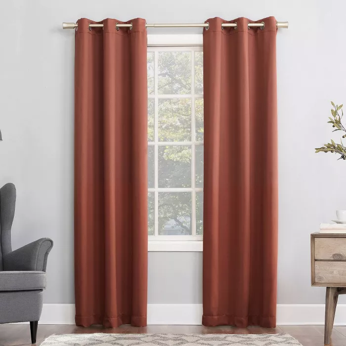 Kenneth Energy Saving Blackout Grommet Curtain Panel Sun Zero Target In 2020 Panel Curtains Curtains Colorful Curtains