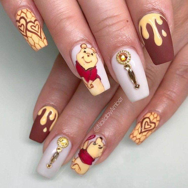 Rustic Cartoon Nail Art Ideas For All Season33 Disney Acrylic Nails Disney Nails Best Acrylic Nails